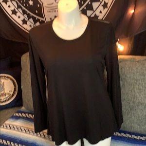 Black t shirt with mesh back